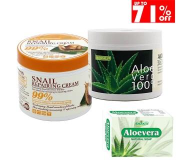 ALOE VERA Cream and Face Soap Cream ALOE VERA and Soap 100g Aloe Vera